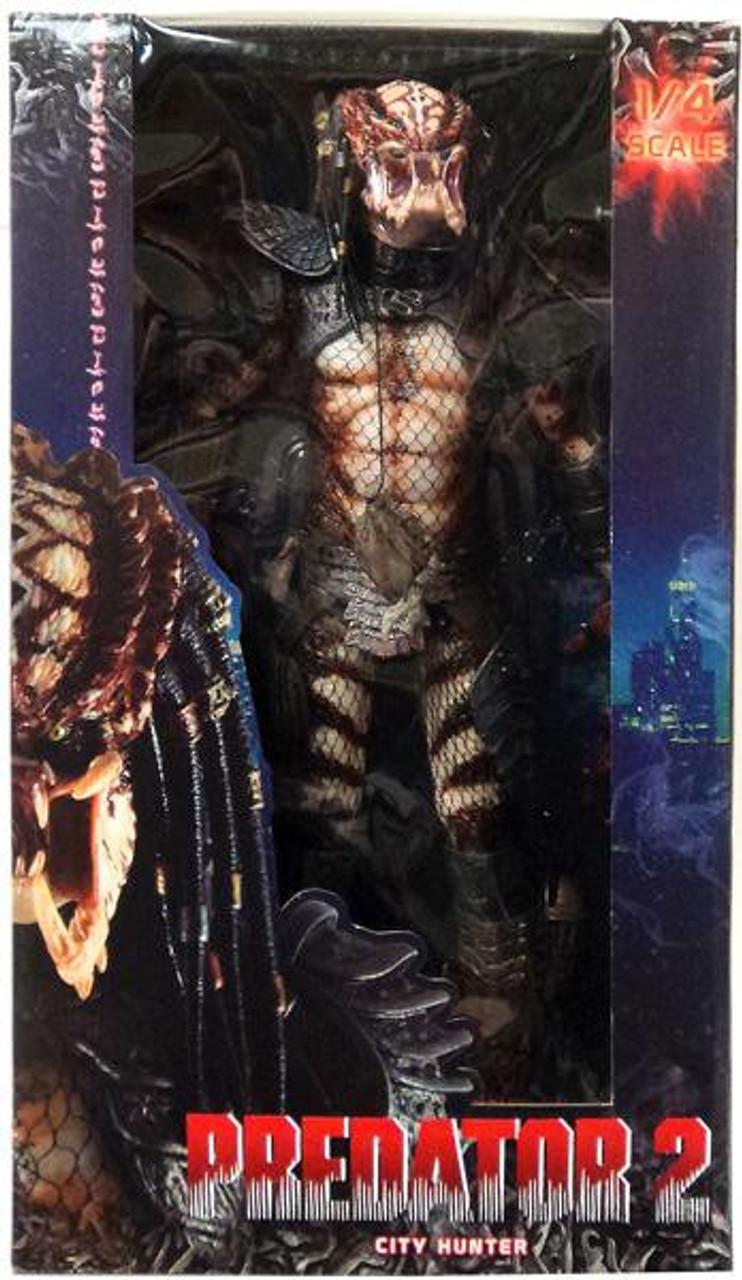 NECA Predator 2 Quarter Scale City Hunter Action Figure [Unmasked]