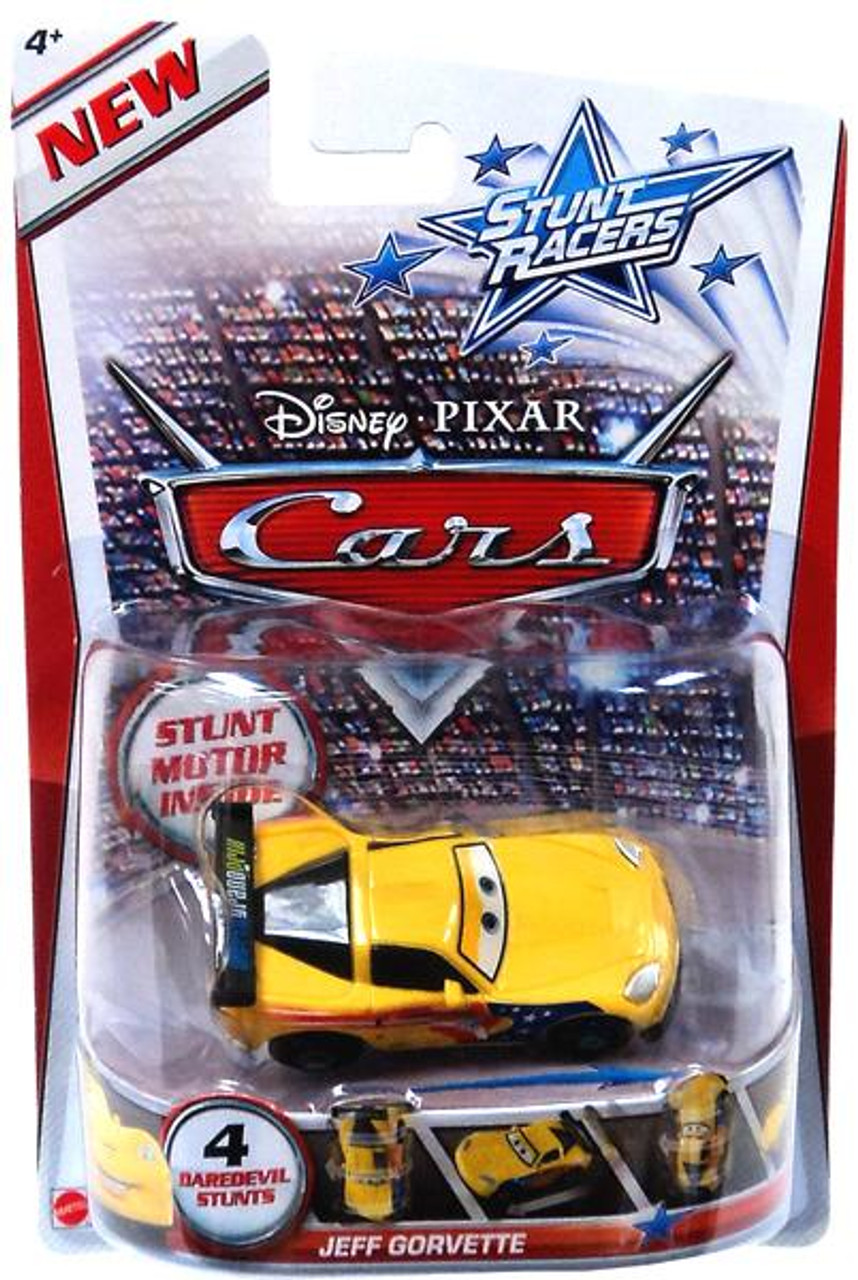 Disney Cars Stunt Racers Jeff Gorvette Plastic Car