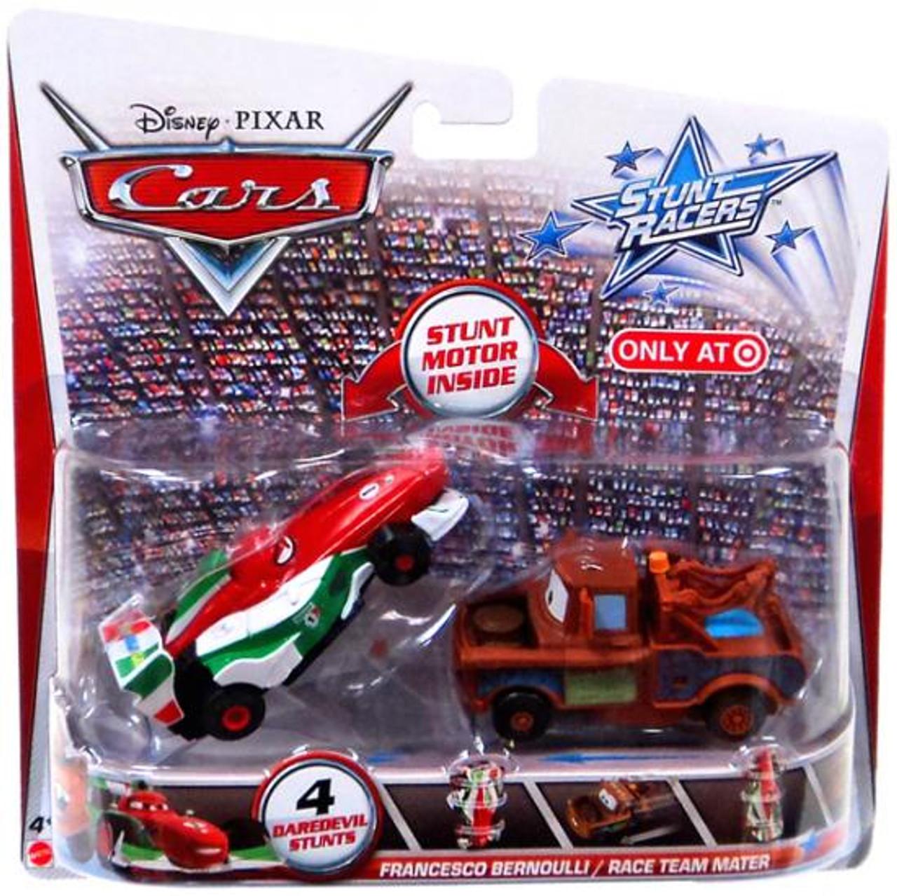 Disney Cars Stunt Racers Francesco Bernoulli & Race Team Mater Exclusive Plastic Car 2-Pack