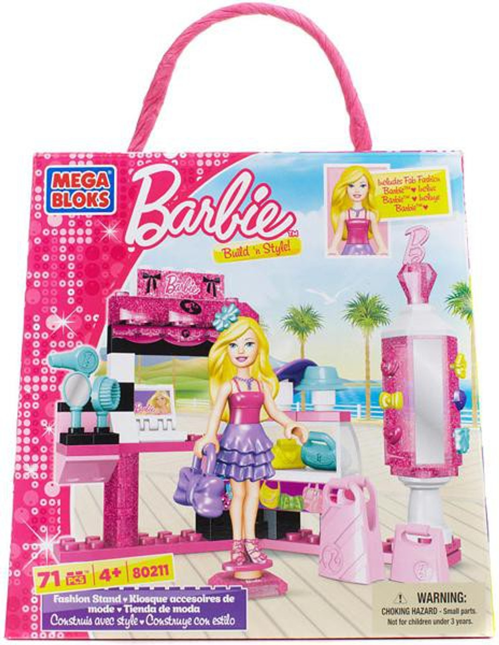 Mega Bloks Barbie Build 'n Style Fashion Stand Set #80211