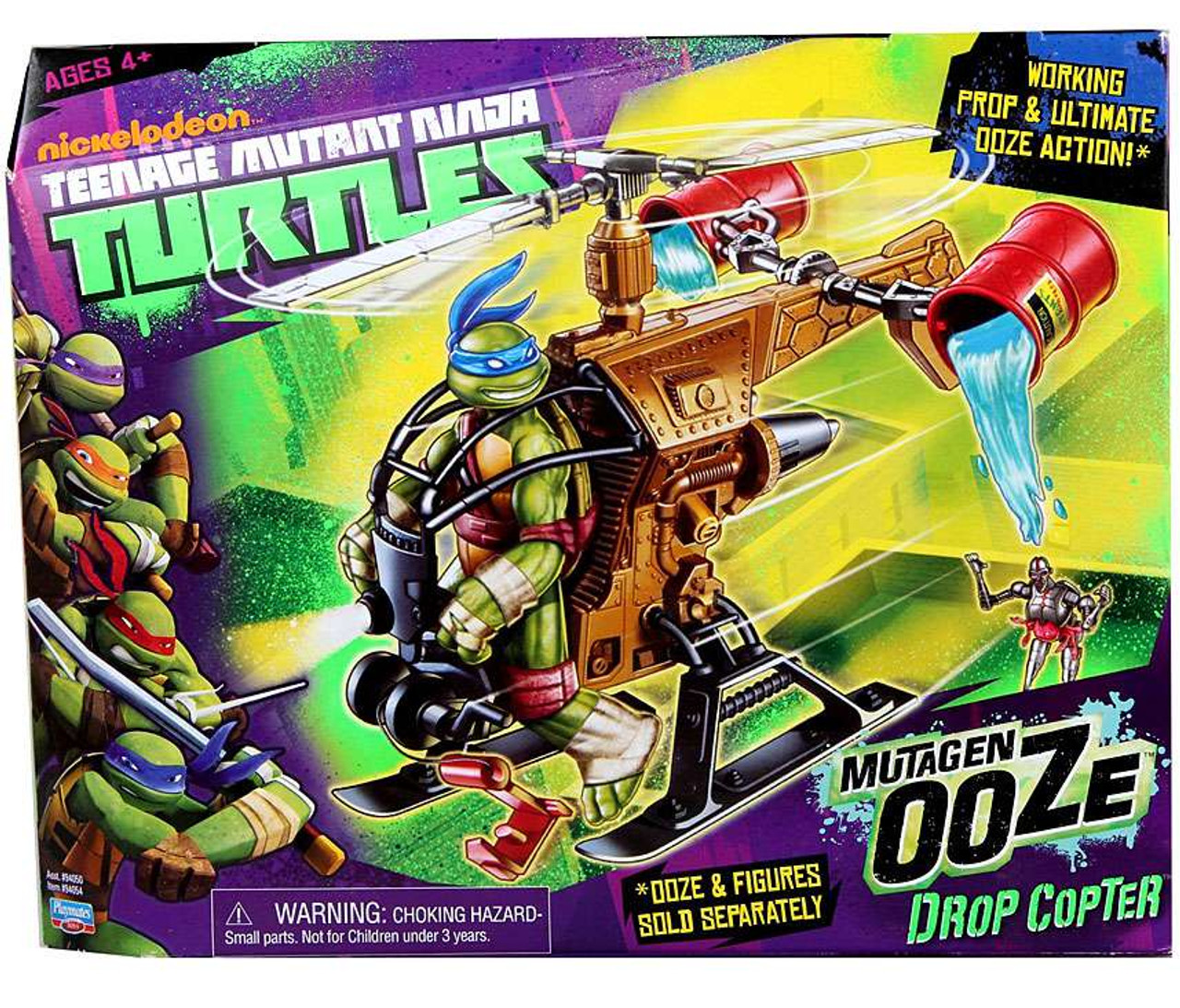 Teenage Mutant Ninja Turtles Nickelodeon Mutagen Ooze Drop Copter Action Figure Vehicle