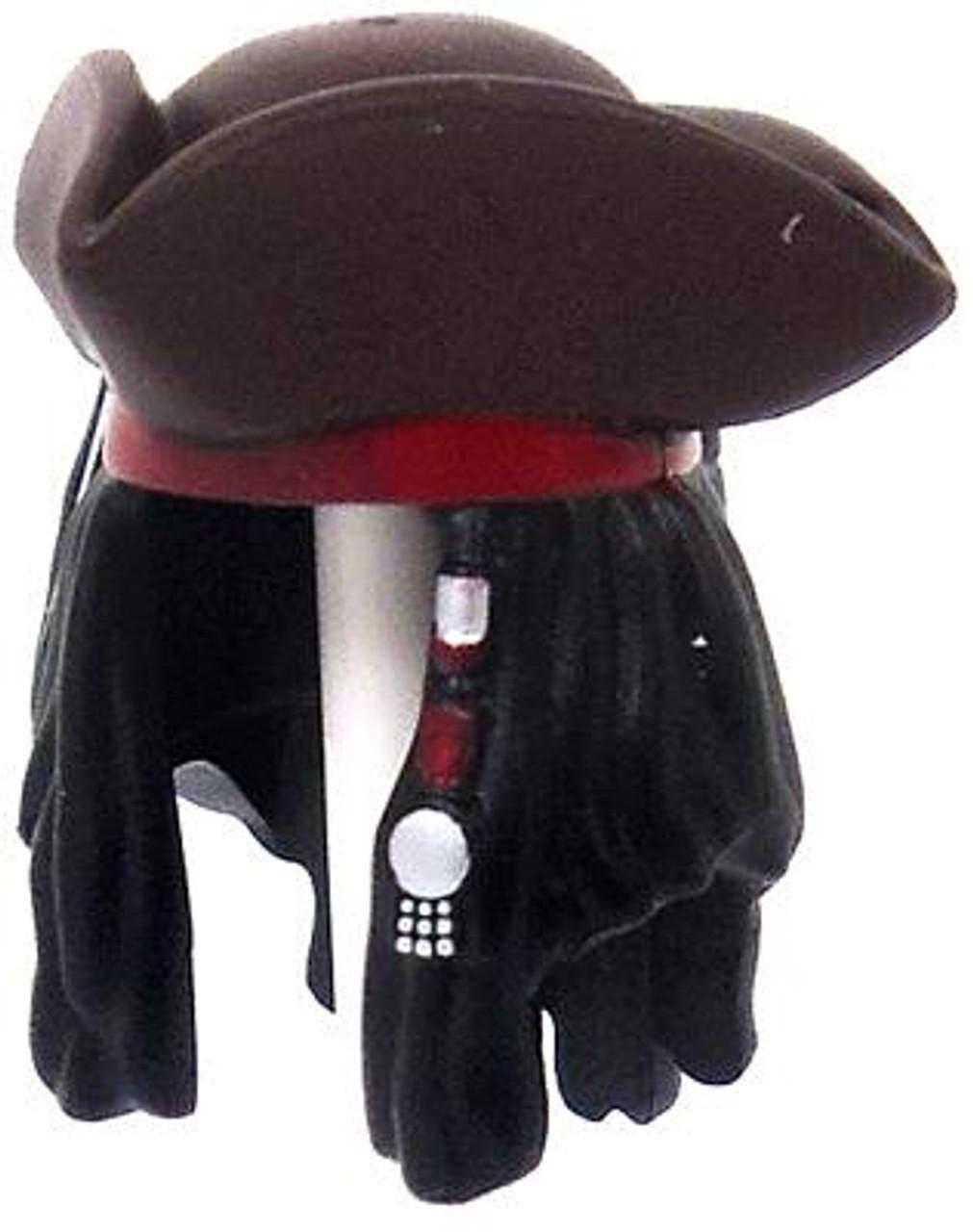 LEGO Pirates of the Caribbean Black Dreadlocks with Tricorn Hat & Maroon Headband Loose Hair [Loose]