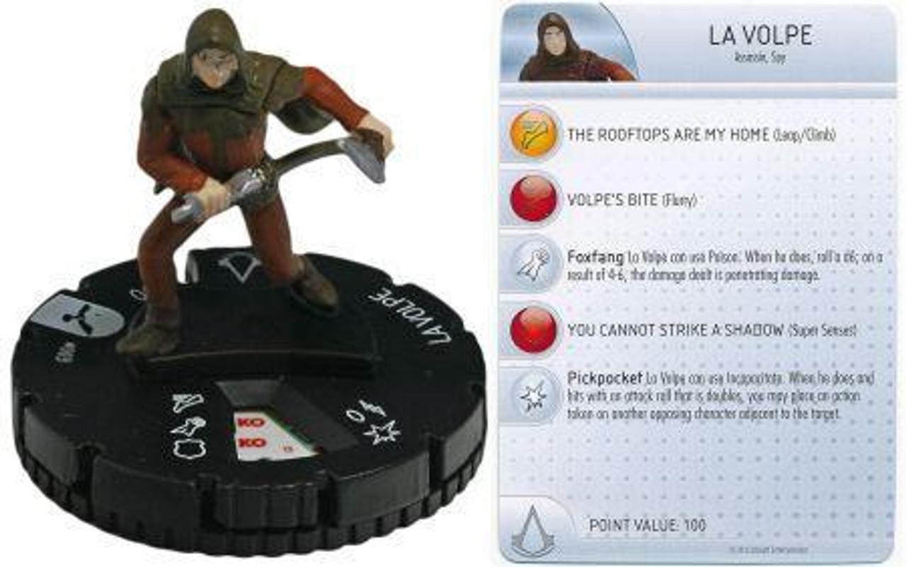Brotherhood Assassin's Creed HeroClix La Volpe #003