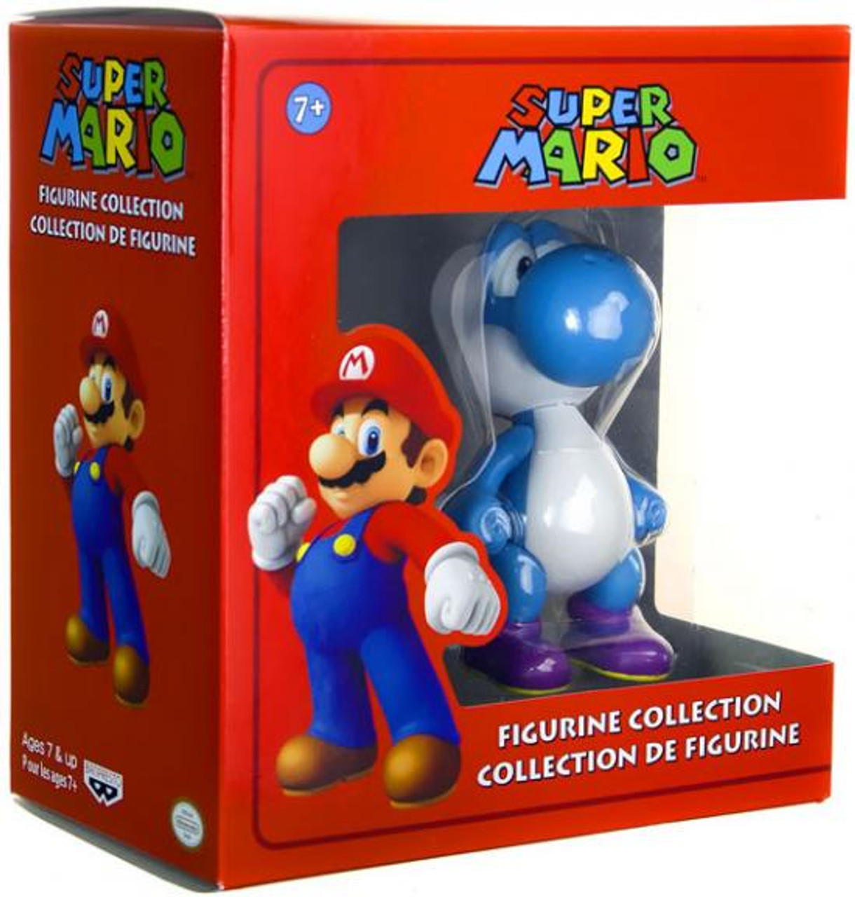 Super Mario Figurine Collection Yoshi 5-Inch Figure [Blue]