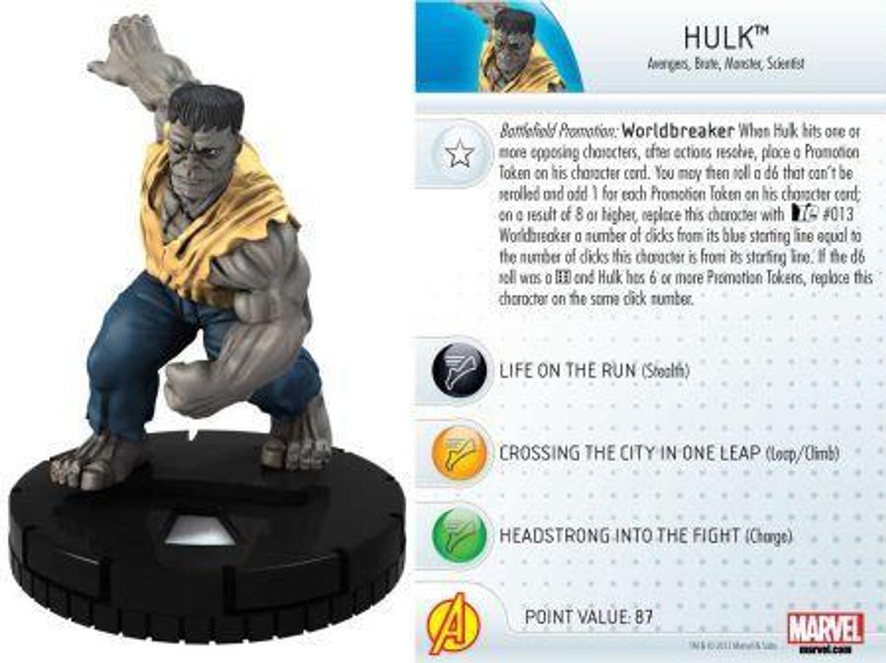 Marvel 10th Anniversary HeroClix Hulk #002