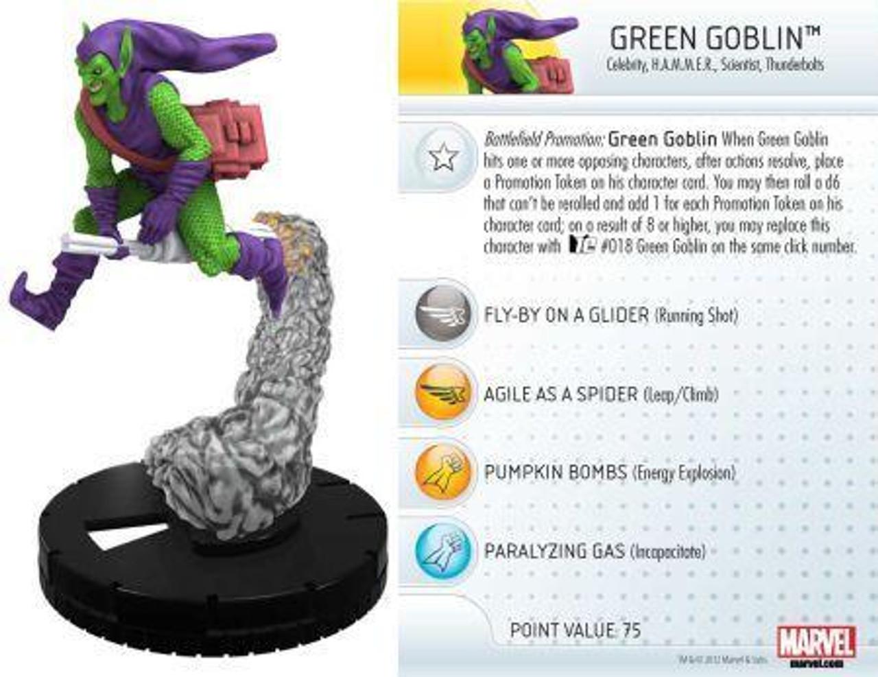 Marvel 10th Anniversary HeroClix Green Goblin #004