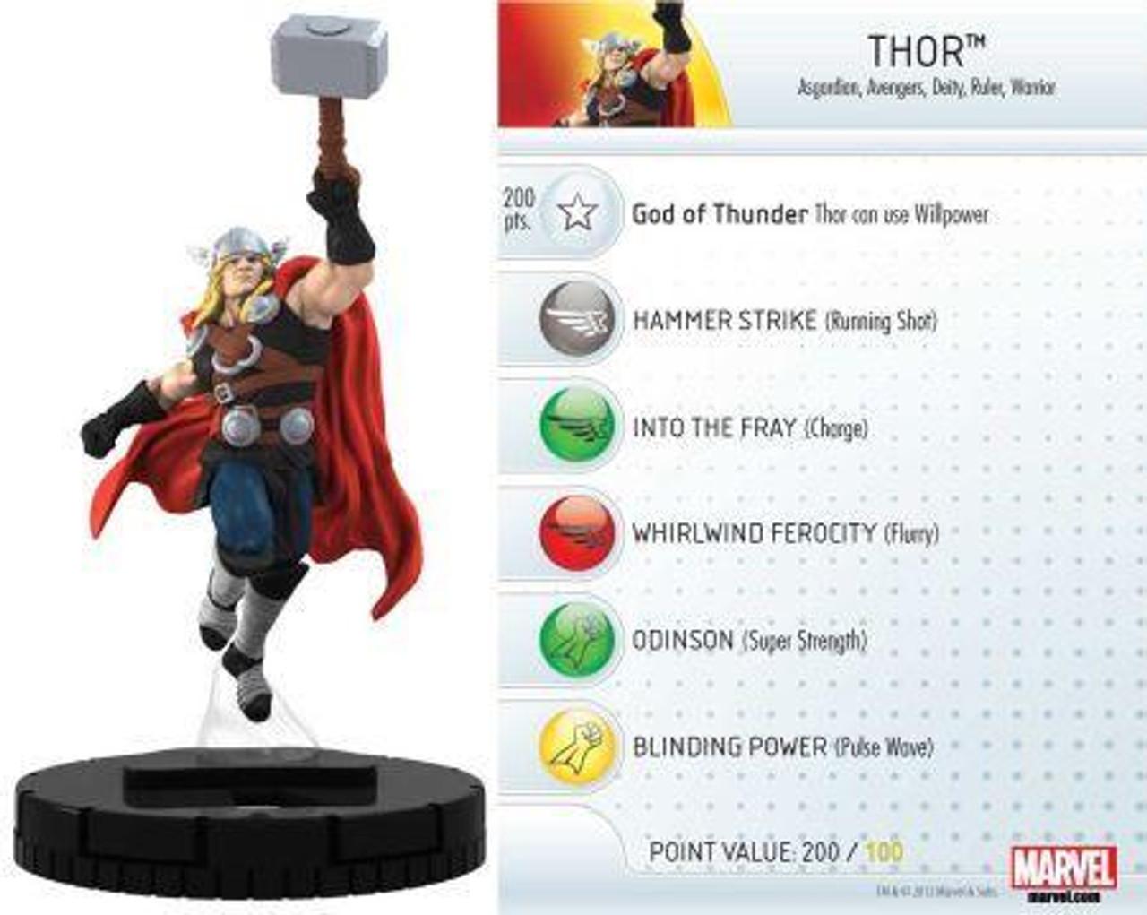 Marvel 10th Anniversary HeroClix Thor #005