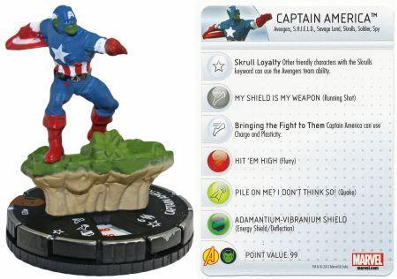 Marvel 10th Anniversary HeroClix Captain America #023