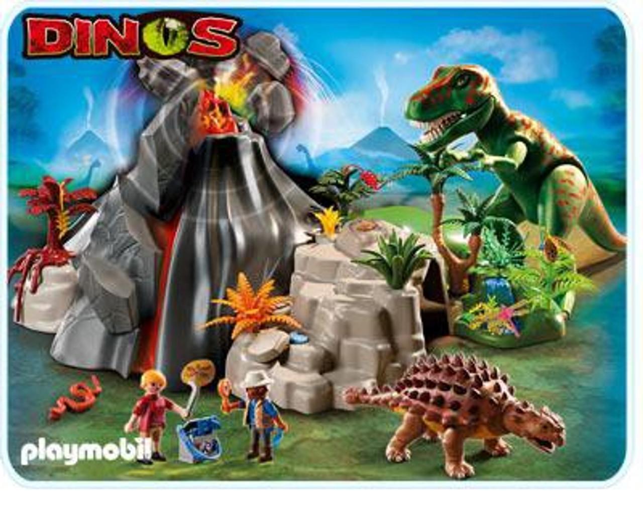 Playmobil Dinos Volcano with Tyrannosaurus Set #5230