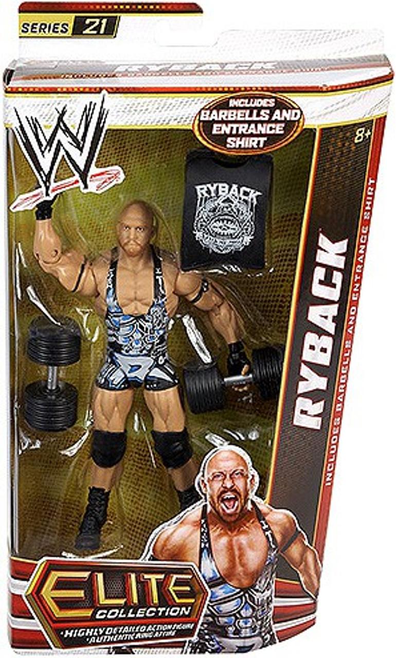 WWE Wrestling Elite Series 21 Ryback Action Figure [Barbells & Entrance Shirt]