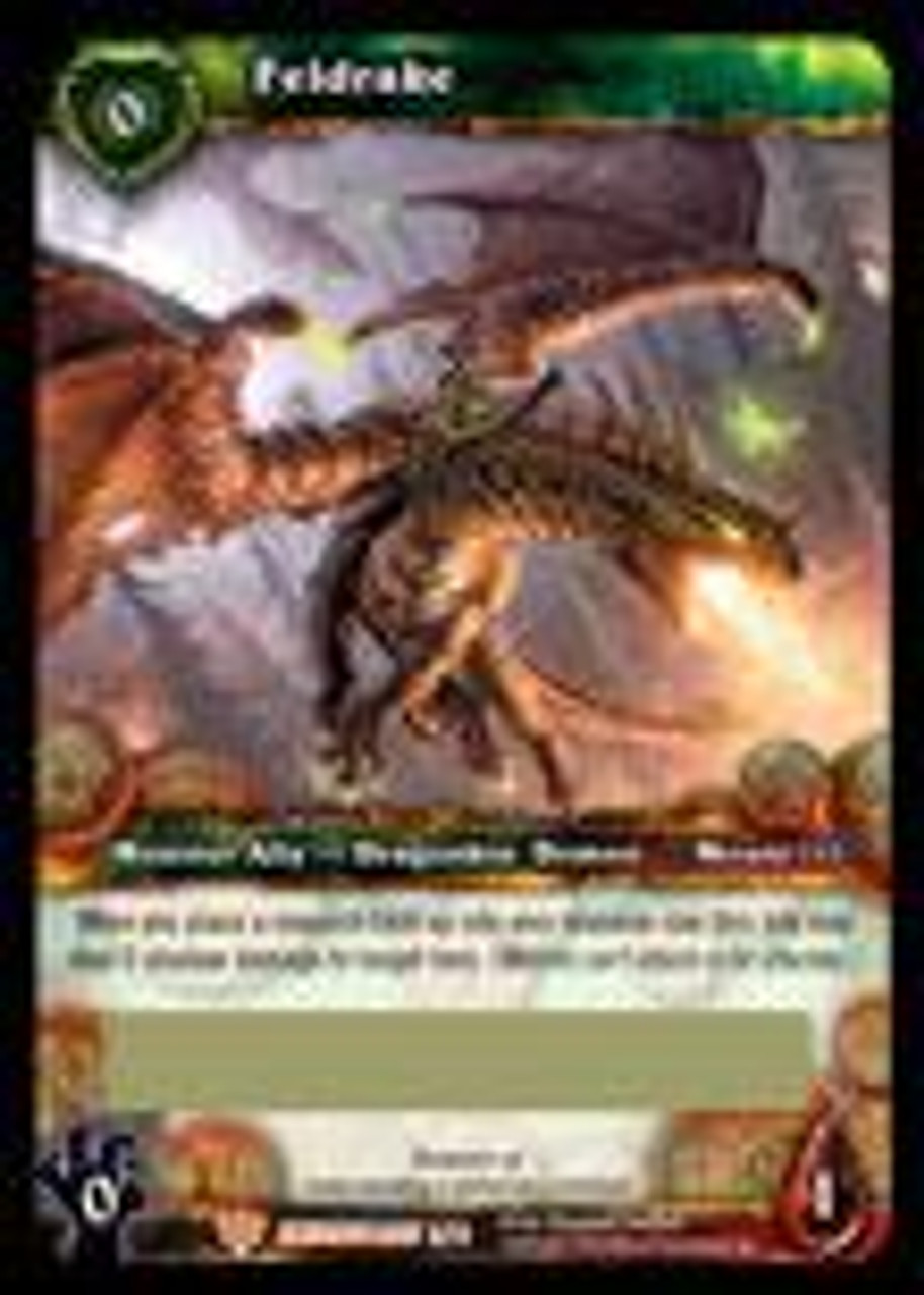 World of Warcraft Trading Card Game War of the Ancients Feldrake Loot Card #3 [Unscratched]
