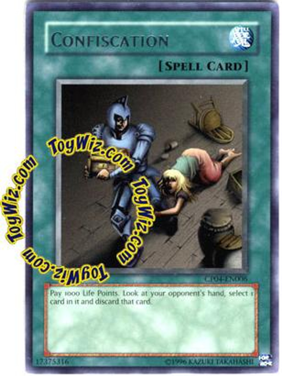 YuGiOh GX Champion Pack: Game 4 Rare Confiscation CP04-EN006