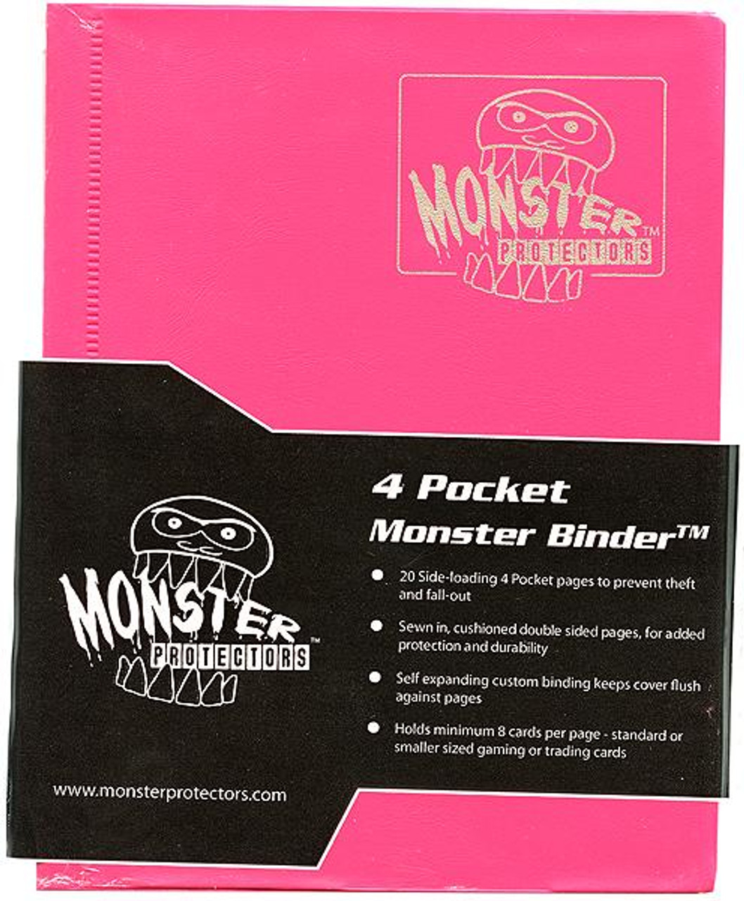 Card Supplies Pink 4-Pocket Binder