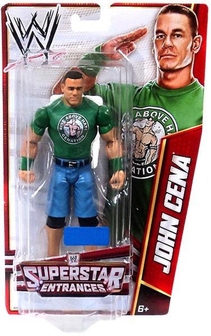 WWE Wrestling Superstar Entrances John Cena Exclusive Action Figure [Green Shirt]