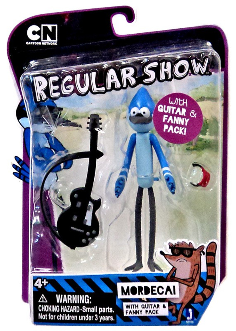 Cartoon Network Regular Show Mordecai Action Figure [with Guitar & Fanny Pack]