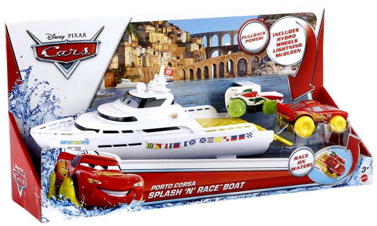 Disney Cars Playsets Porto Corsa Splash 'N' Race Boat Playset