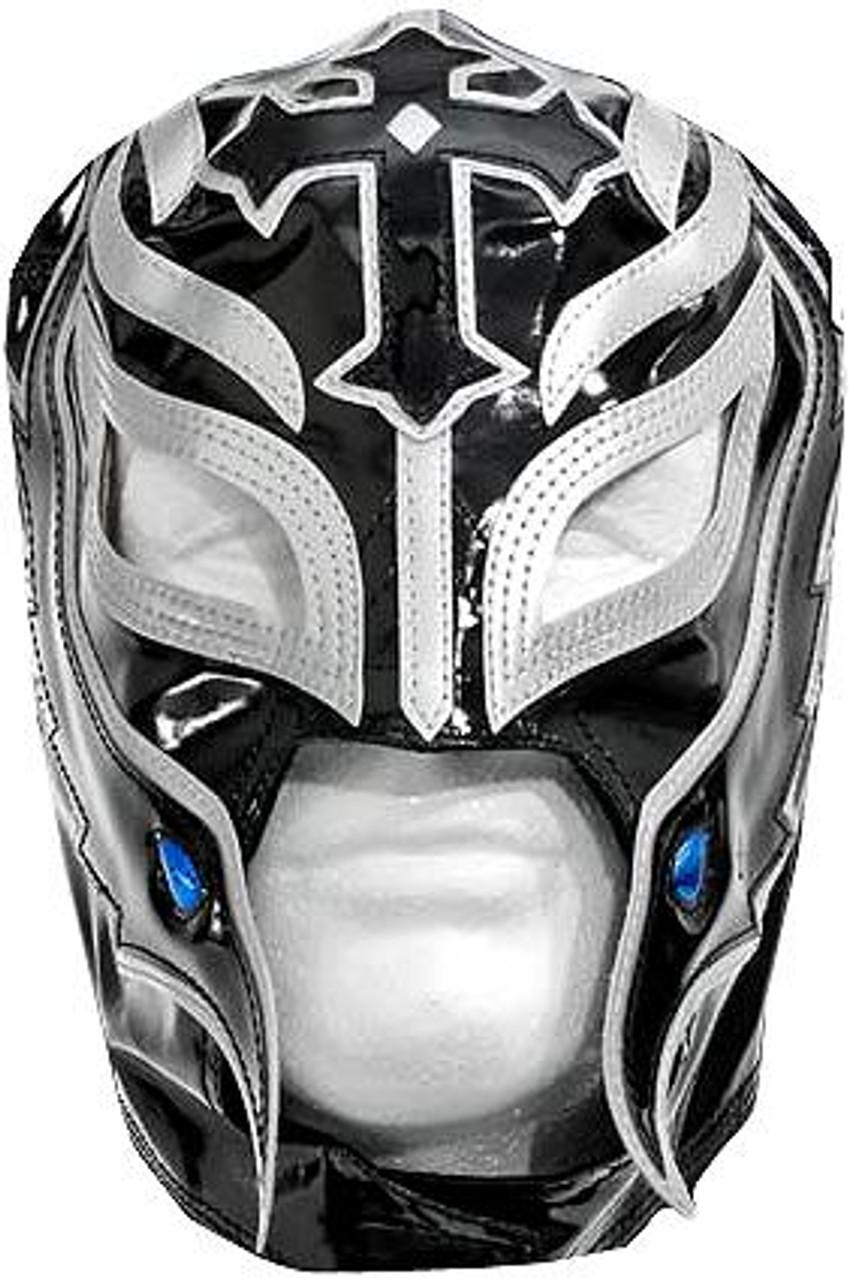 WWE Wrestling Costumes Rey Mysterio Replica Mask [Black & Silver]