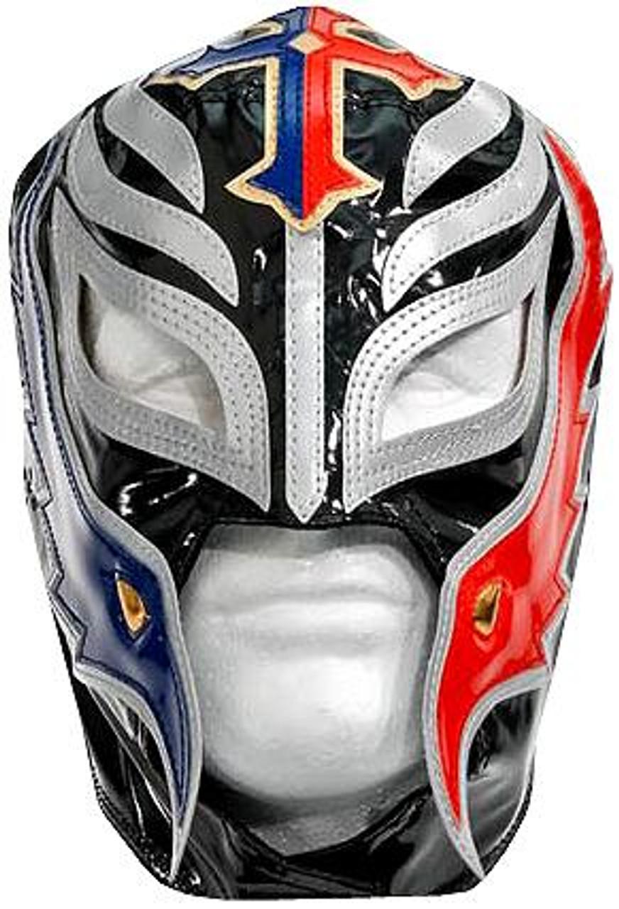 WWE Wrestling Costumes Rey Mysterio Replica Mask [Black, Red & Blue]