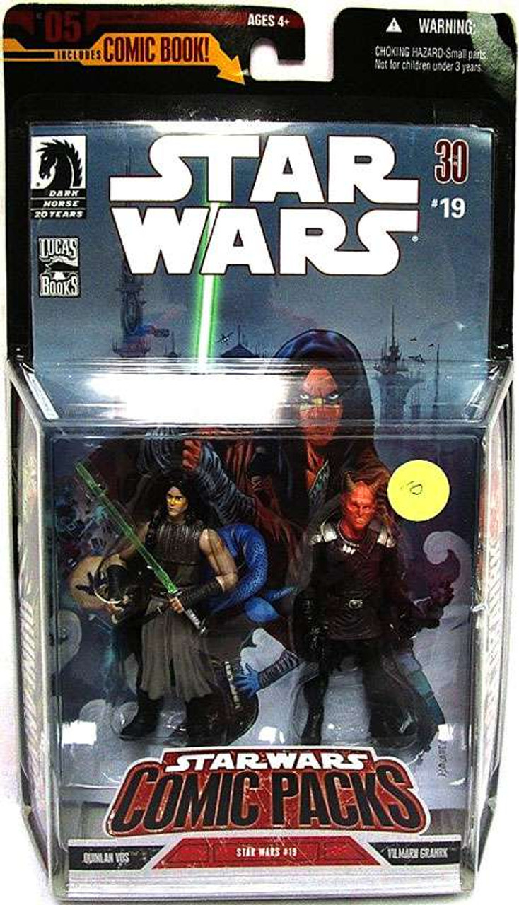 Star Wars Expanded Universe Comic Packs 2006 Quinlan Vos & Vilmarh Grahrk Action Figure 2-Pack
