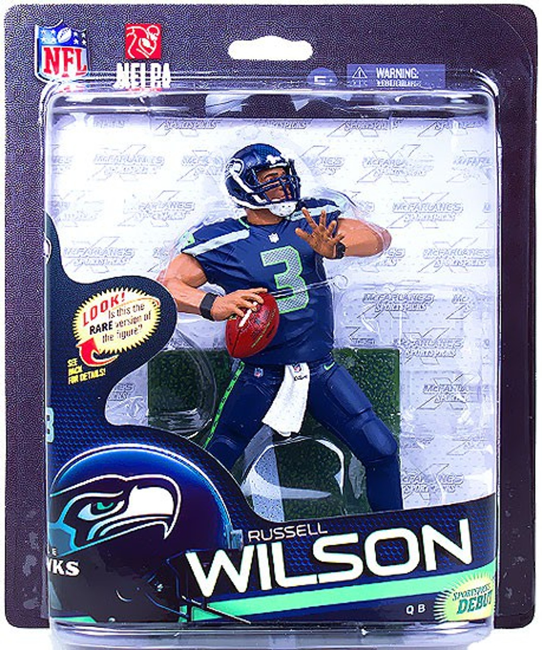 McFarlane Toys NFL Seattle Seahawks Sports Picks Series 33 Russell Wilson Action Figure