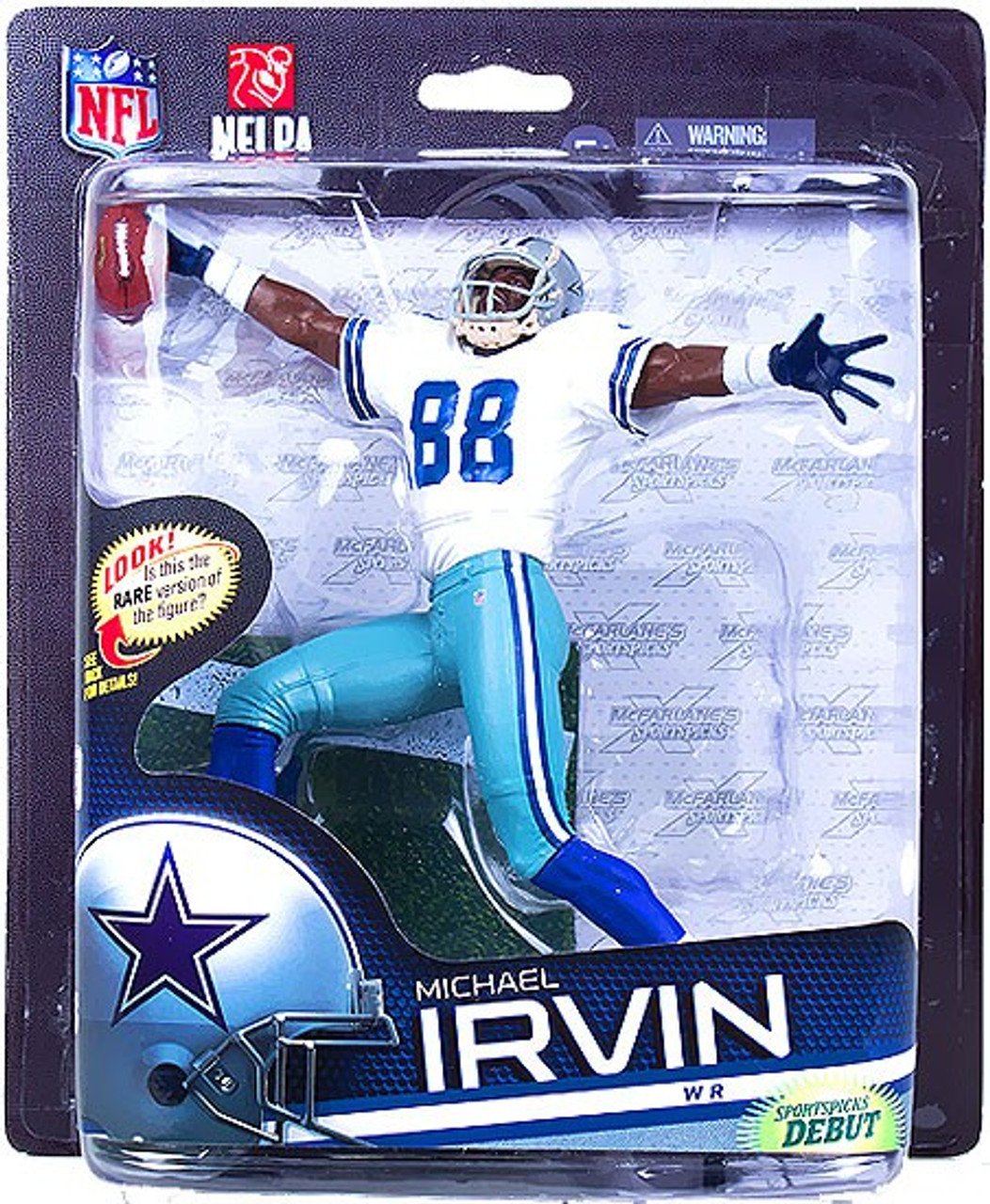 McFarlane Toys NFL Dallas Cowboys Sports Picks Series 33 Michael Irvin Action Figure