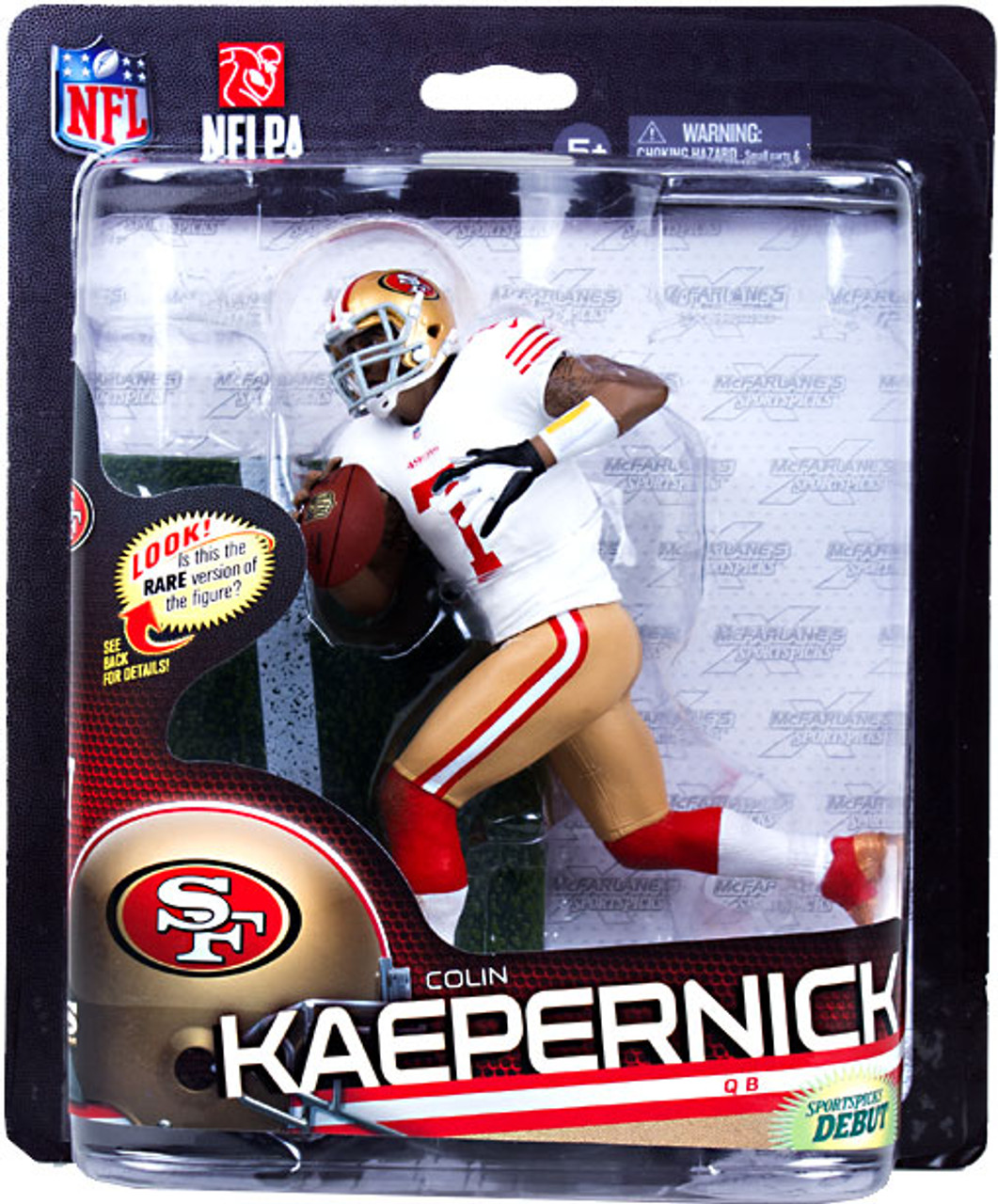 McFarlane Toys NFL San Francisco 49ers Sports Picks Series 33 Colin Kaepernick Action Figure [White Jersey]