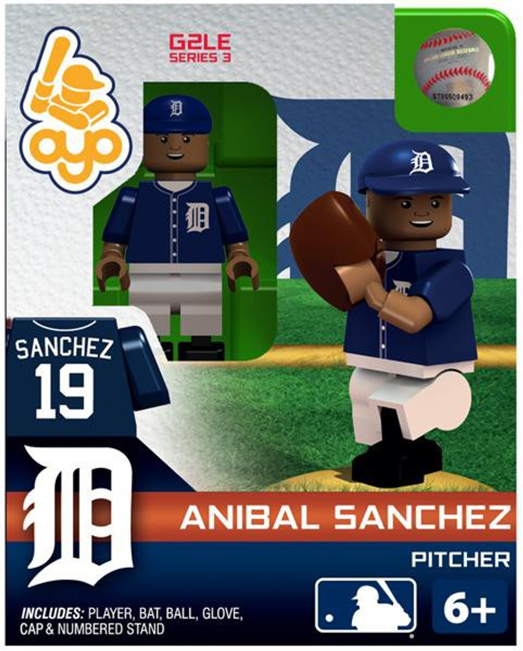 Detroit Tigers MLB Generation 2 Series 3 Anibal Sanchez Minifigure