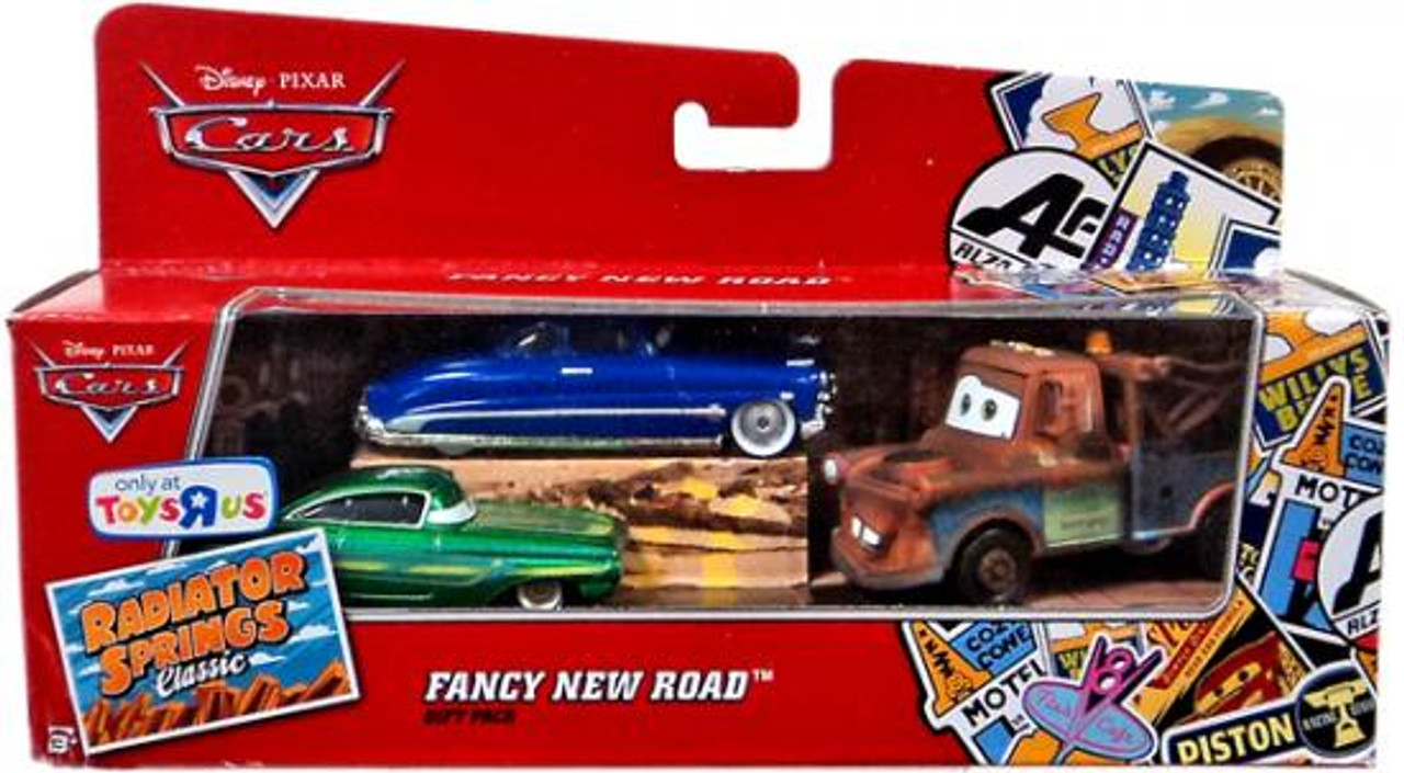 Disney Cars Radiator Springs Classic Fancy New Road Gift Pack Exclusive Diecast Car Set