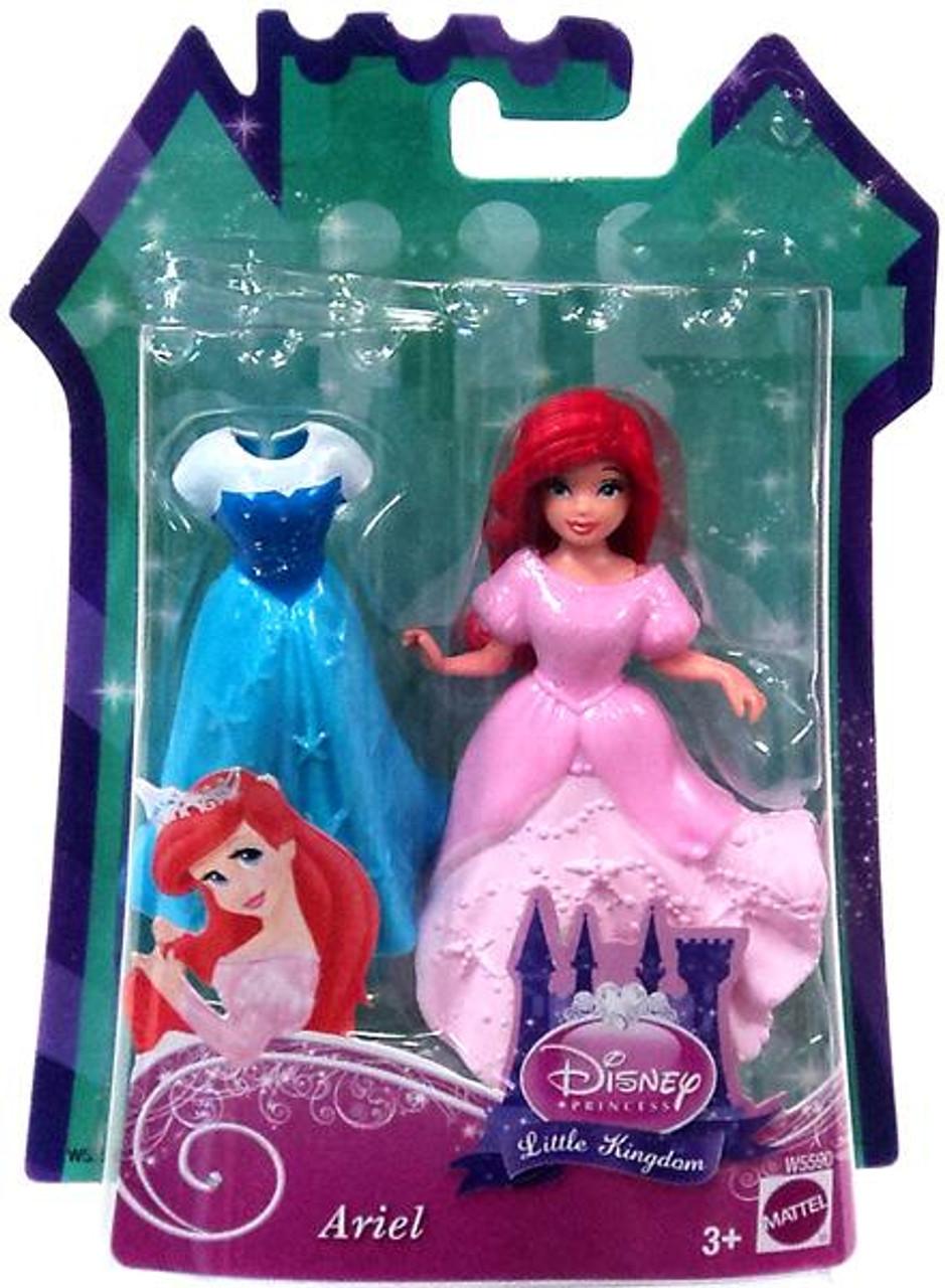 Disney Princess The Little Mermaid Little Kingdom Ariel 11.5-Inch Figure [Glitter Stretch Fashion]
