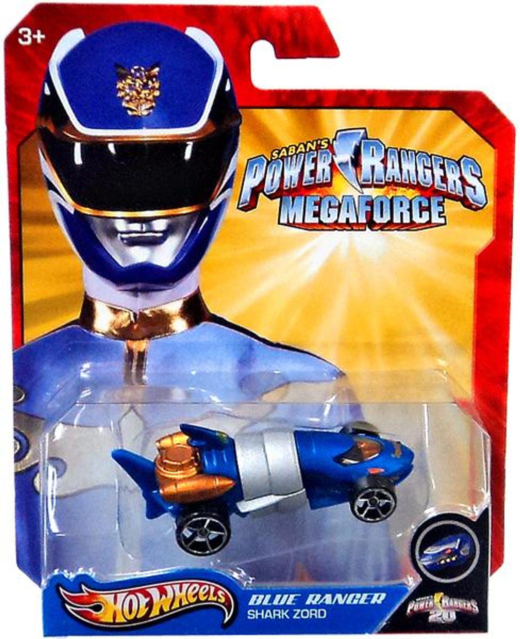 Power Rangers Megaforce Hot Wheels Blue Ranger Shark Zord Diecast Car