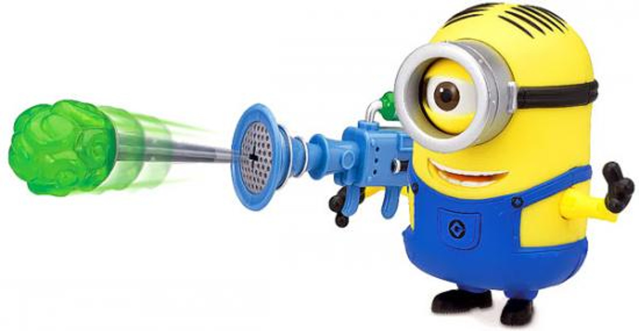 Despicable Me 2 Minion Stuart Action Figure [Fart Dart Launcher ]