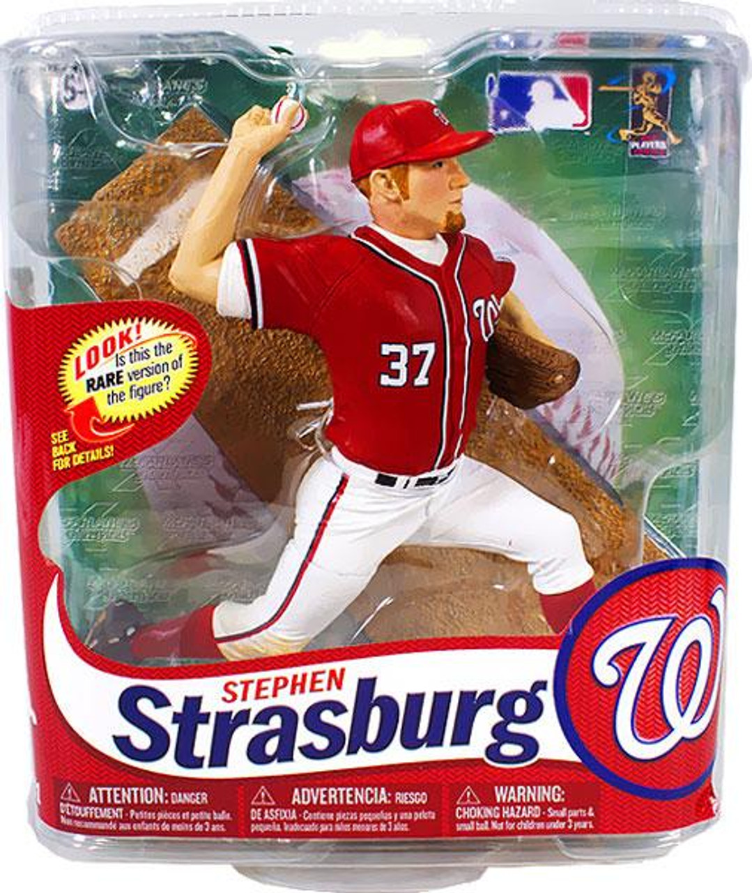 McFarlane Toys MLB Washington Nationals Sports Picks Series 31 Stephen Strasburg Action Figure [Red Jersey]