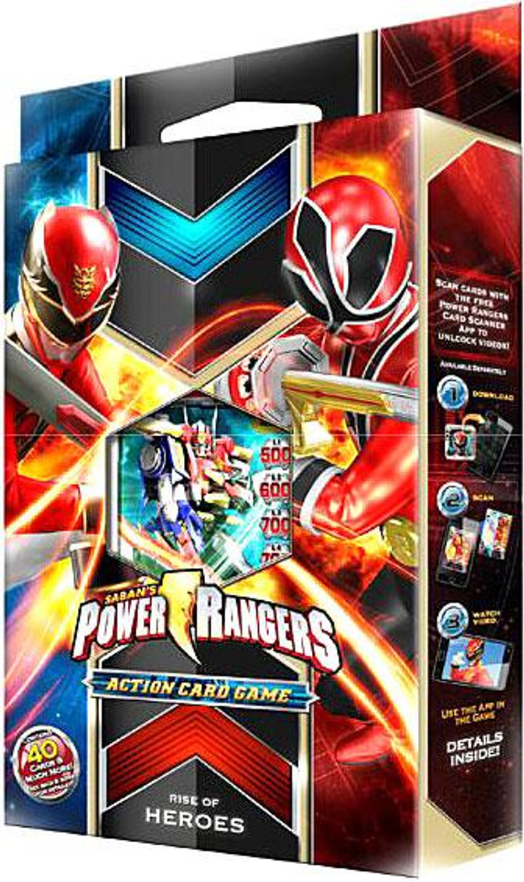 Power Rangers Action Card Game Rise of Heroes Starter Deck
