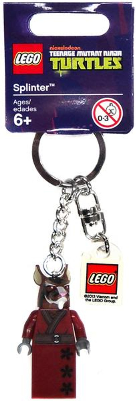 LEGO Teenage Mutant Ninja Turtles Splinter Minifigure Keychain #850838