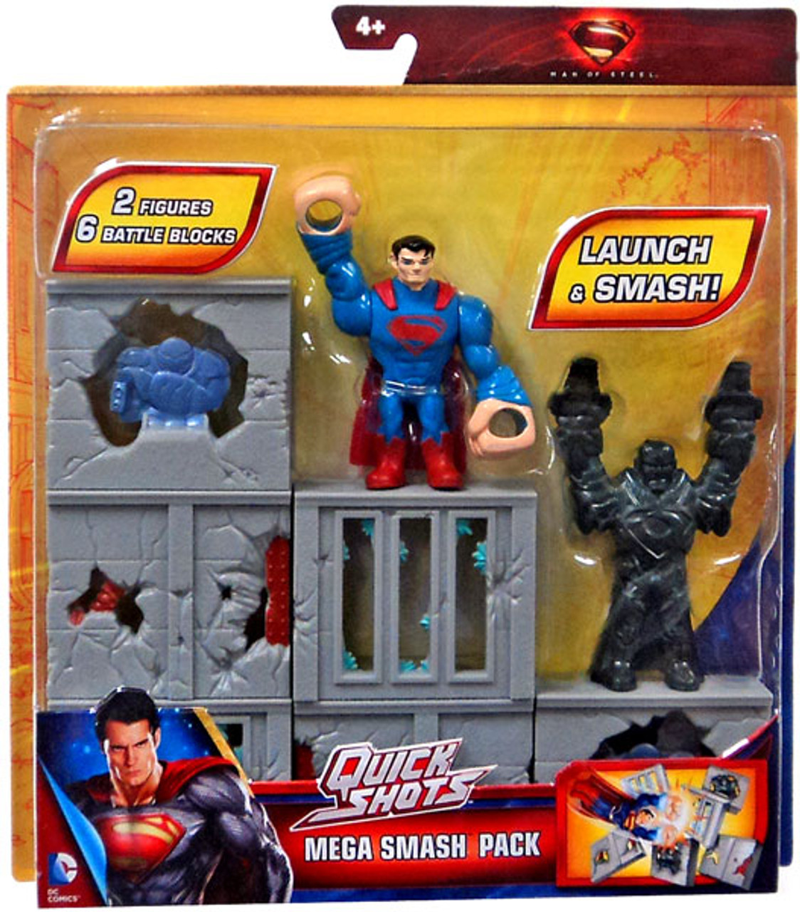 Superman Man of Steel Quick Shots Mega Smash Pack Playset