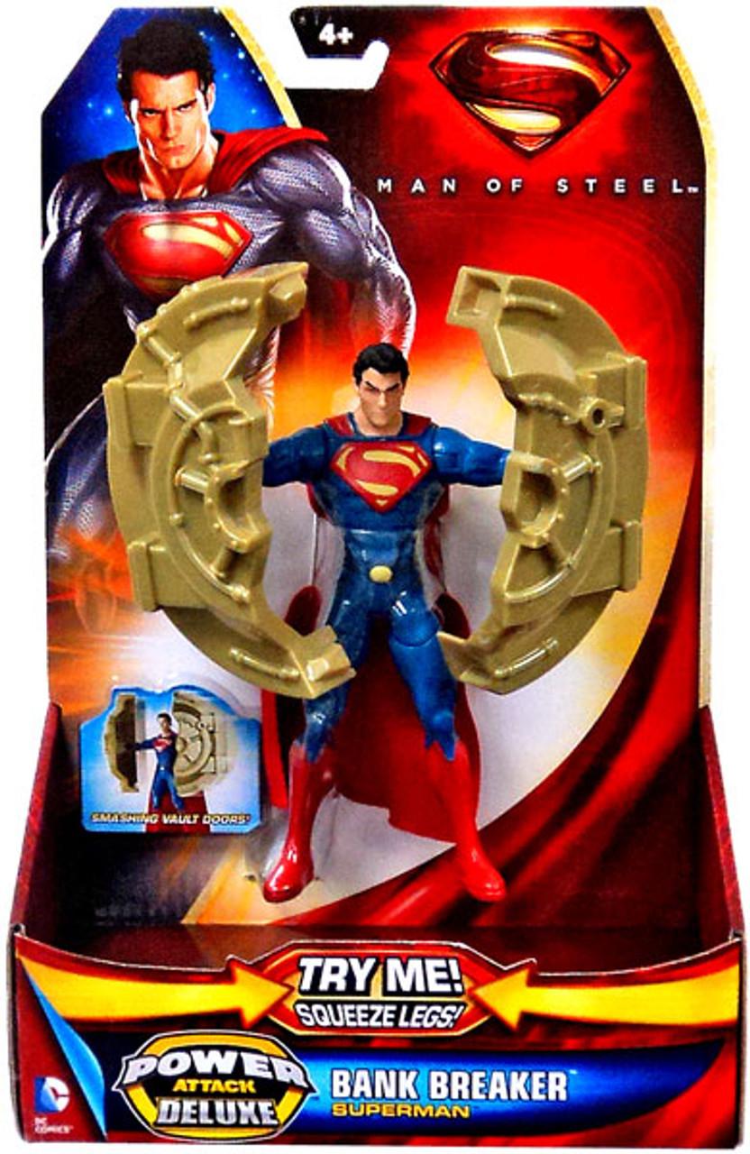Man of Steel Power Attack Deluxe Superman Action Figure [Bank Breaker]