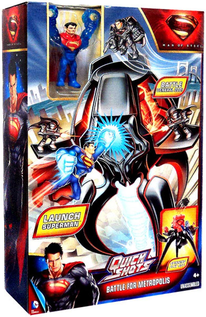 Superman Man of Steel Quick Shots Battle For Metropolis Playset