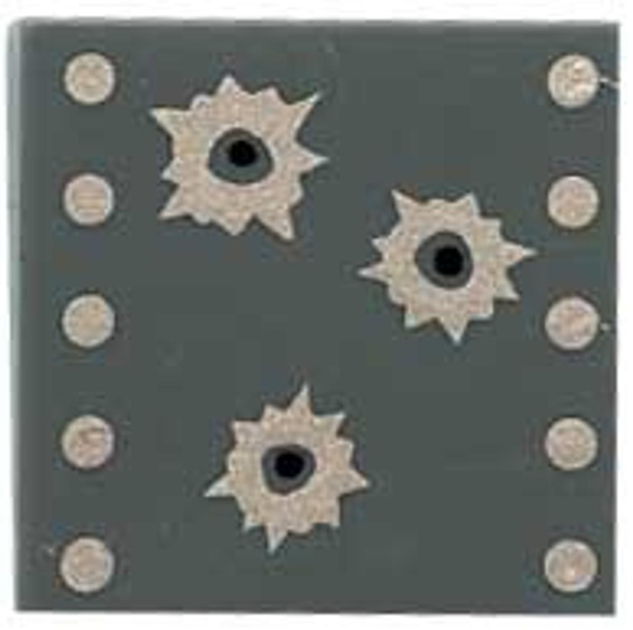 Citizen Brick Custom Painted Bullet Holes Tile Loose Accessory [Dark Gray]