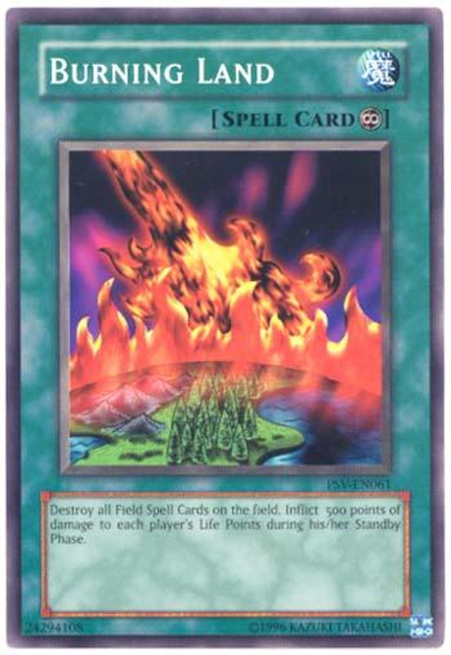 YuGiOh Pharaoh's Servant Common Burning Land PSV-061