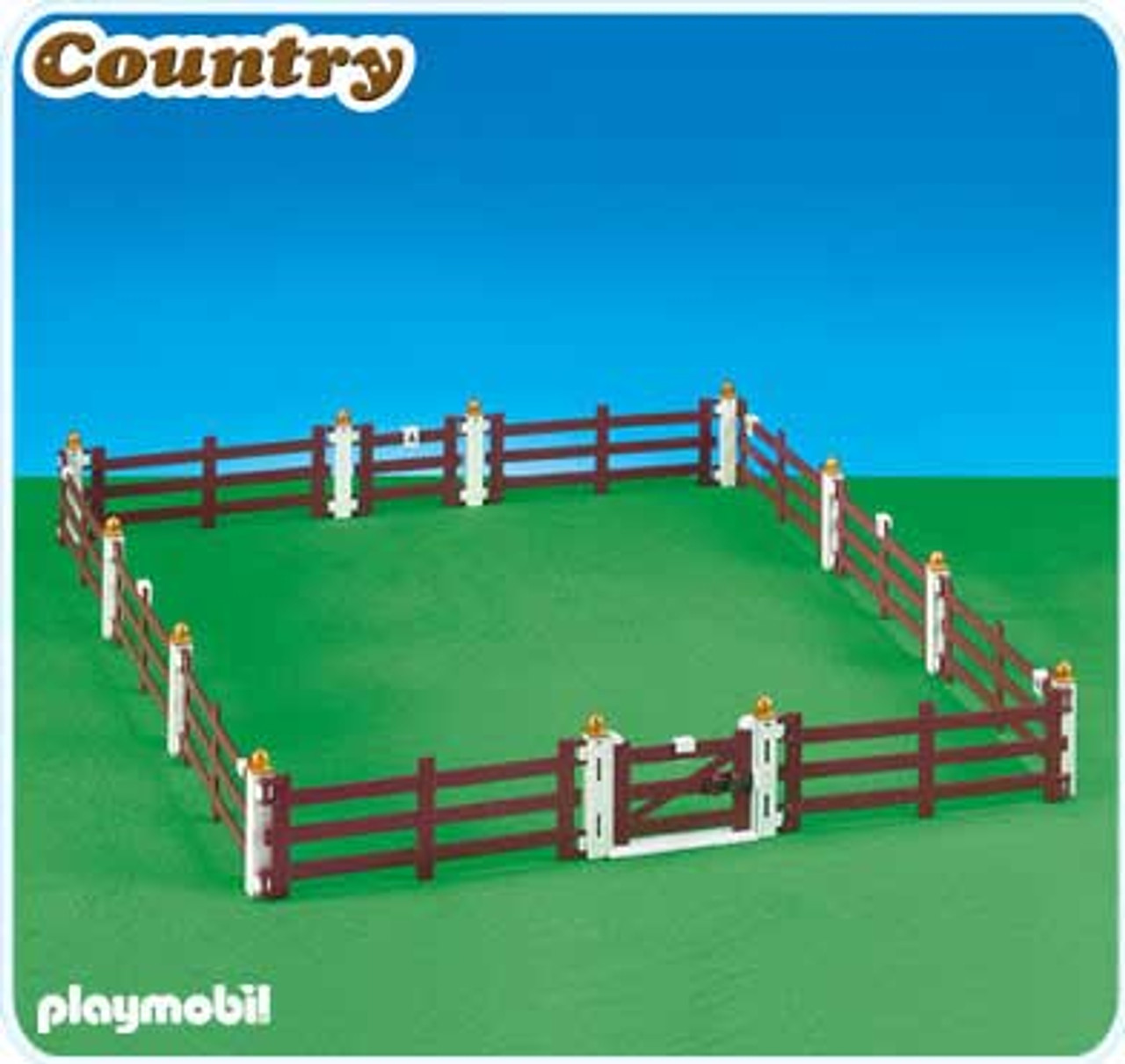 Playmobil Fence Extension for Large Horse Farm with Paddock Set #6255