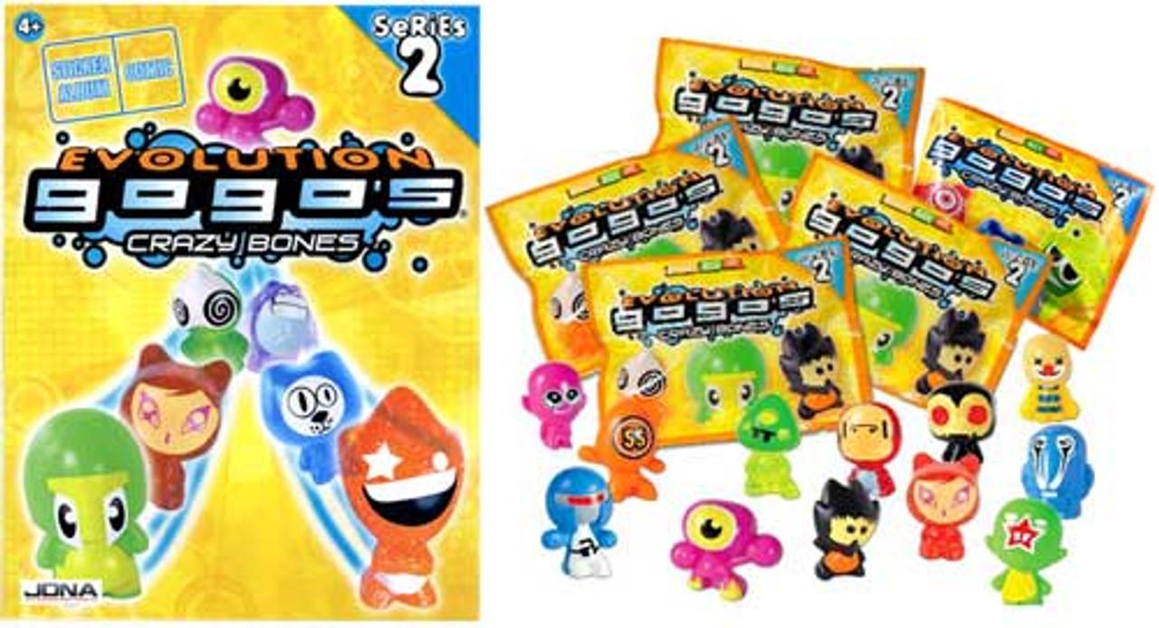 Crazy Bones Gogo's Series 2 Evolution Lot of 5 Booster Packs [Free Bonus Album]