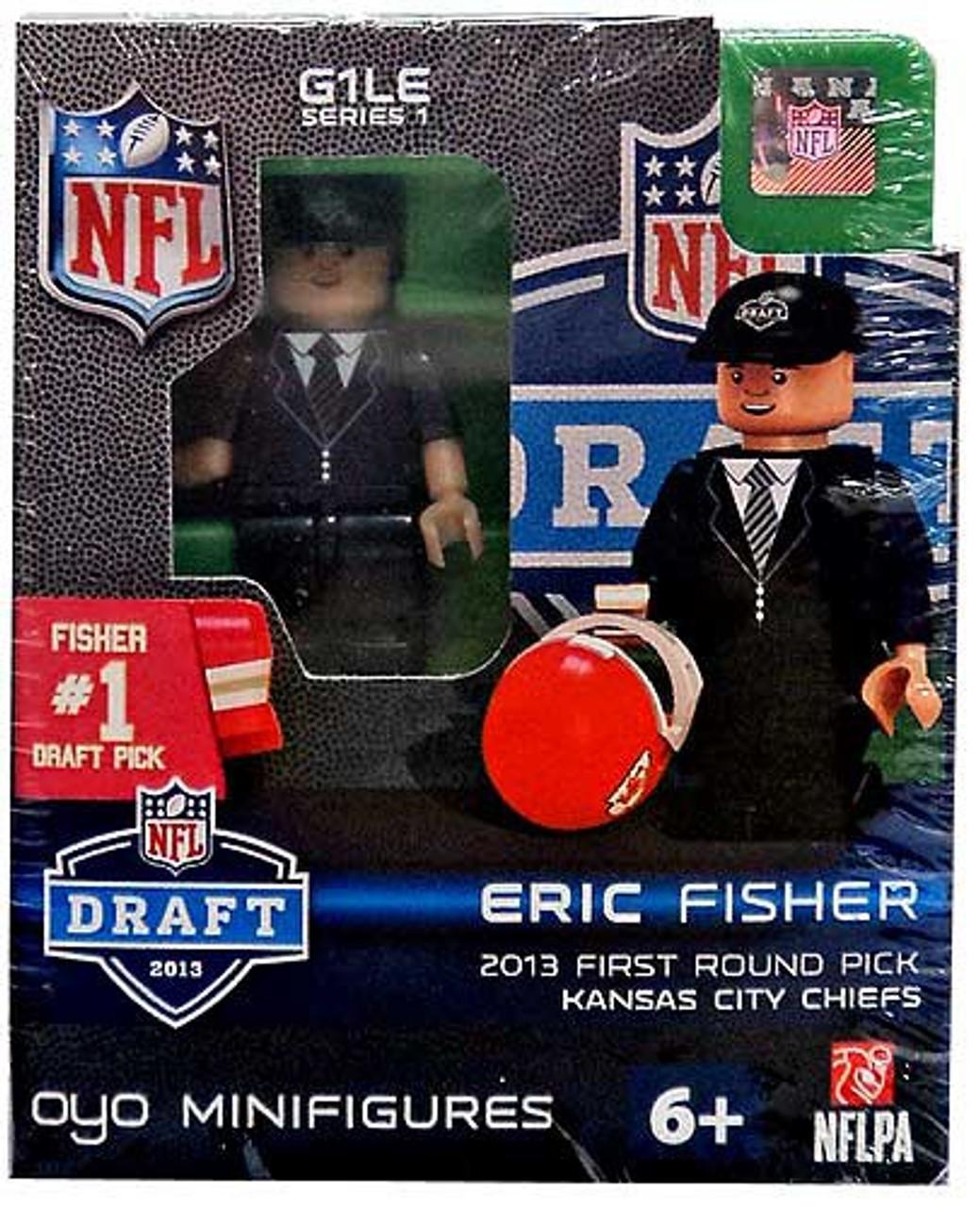Kansas City Chiefs NFL 2013 Draft First Round Picks Eric Fisher Minifigure