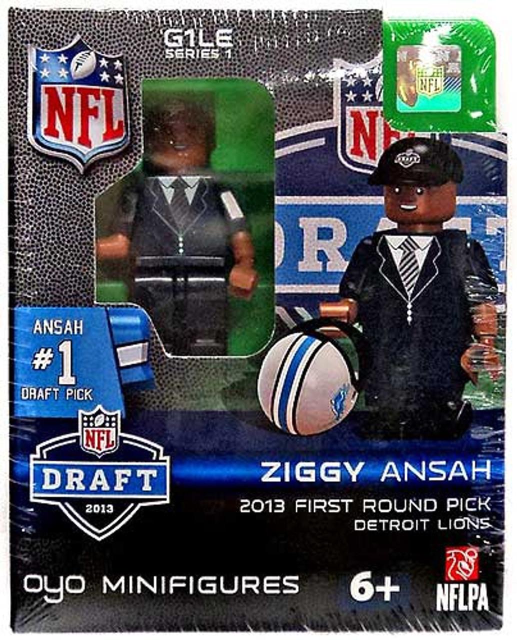 Detroit Lions NFL 2013 Draft First Round Picks Ziggy Ansah Minifigure