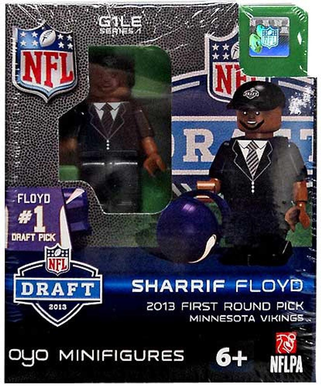Minnesota Vikings NFL 2013 Draft First Round Picks Sharrif Floyd Minifigure