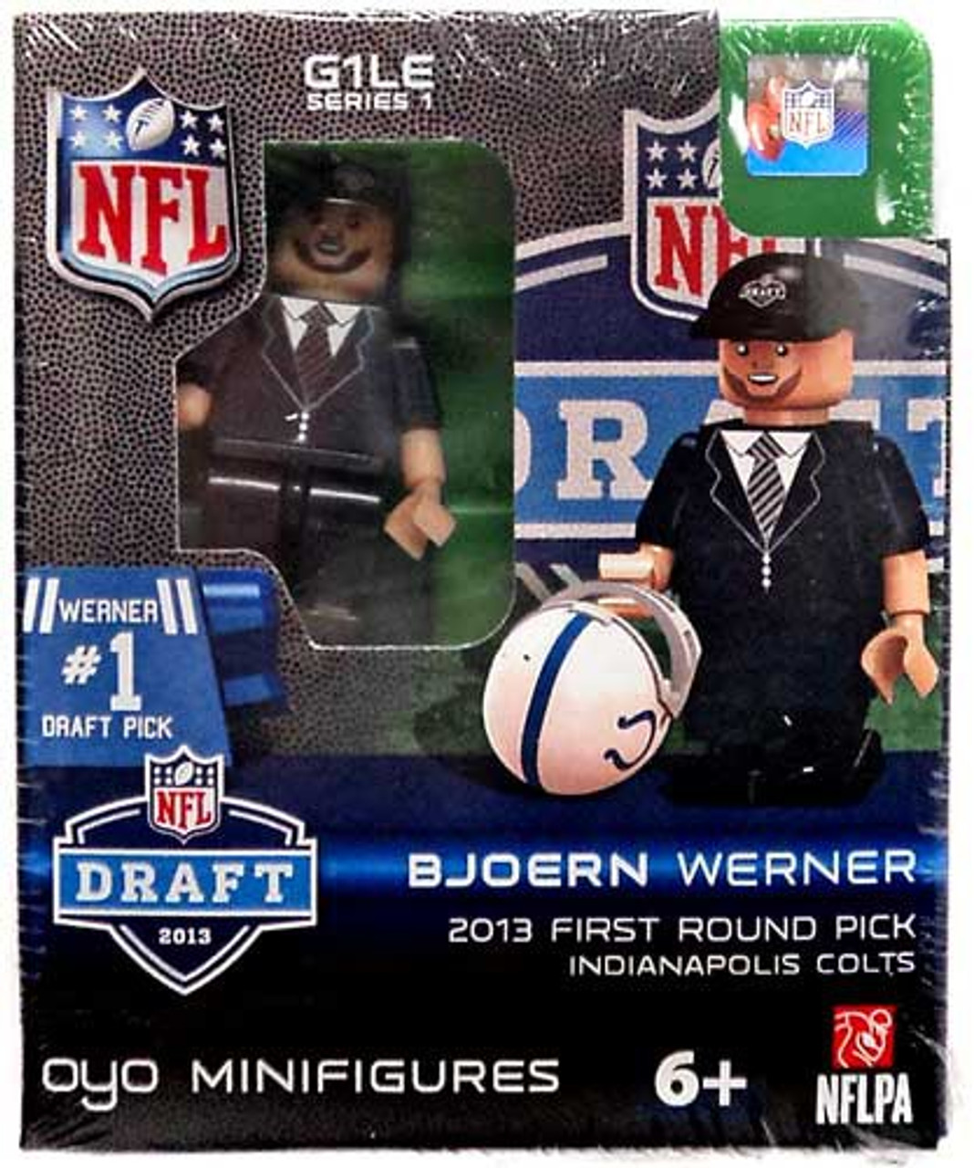 Indianapolis Colts NFL 2013 Draft First Round Picks Bjoern Werner Minifigure