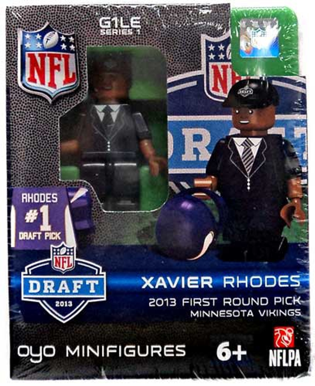 Minnesota Vikings NFL 2013 Draft First Round Picks Xavier Rhodes Minifigure