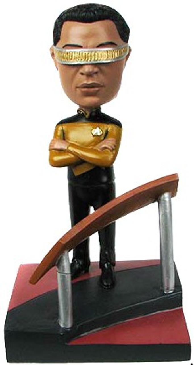 Star Trek The Next Generation Build a Bridge Georfi Laforge 7-Inch Bobble Head