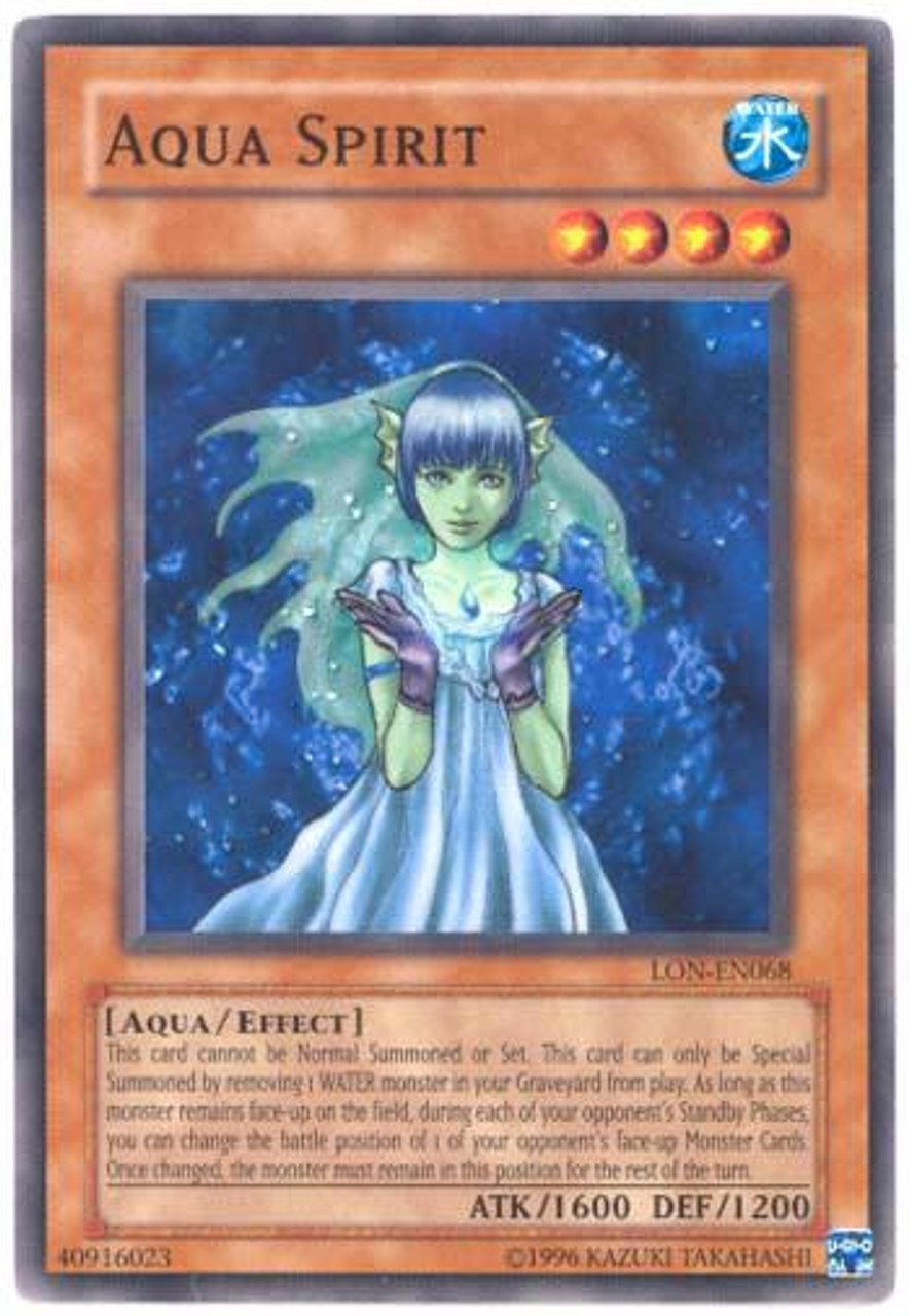 YuGiOh Labyrinth of Nightmare Common Aqua Spirit LON-068