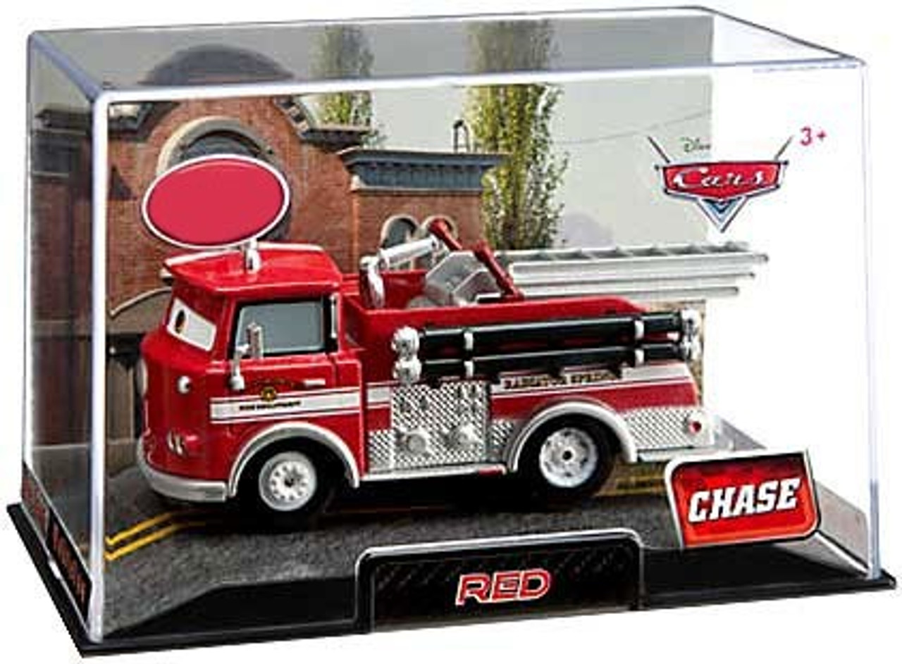 Disney Cars 1:43 Collectors Case Red the Firetruck Exclusive Diecast Car [Chase Edition]