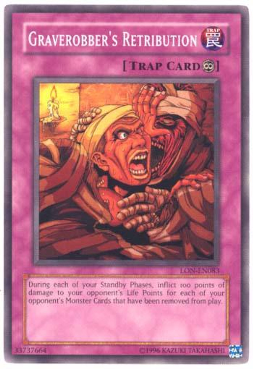 YuGiOh Labyrinth of Nightmare Common Graverobber's Retribution LON-083